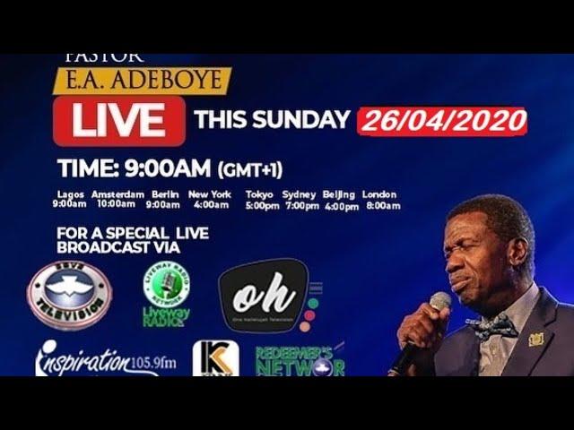 RCCG Sunday Service Live Stream (26th April 2020)