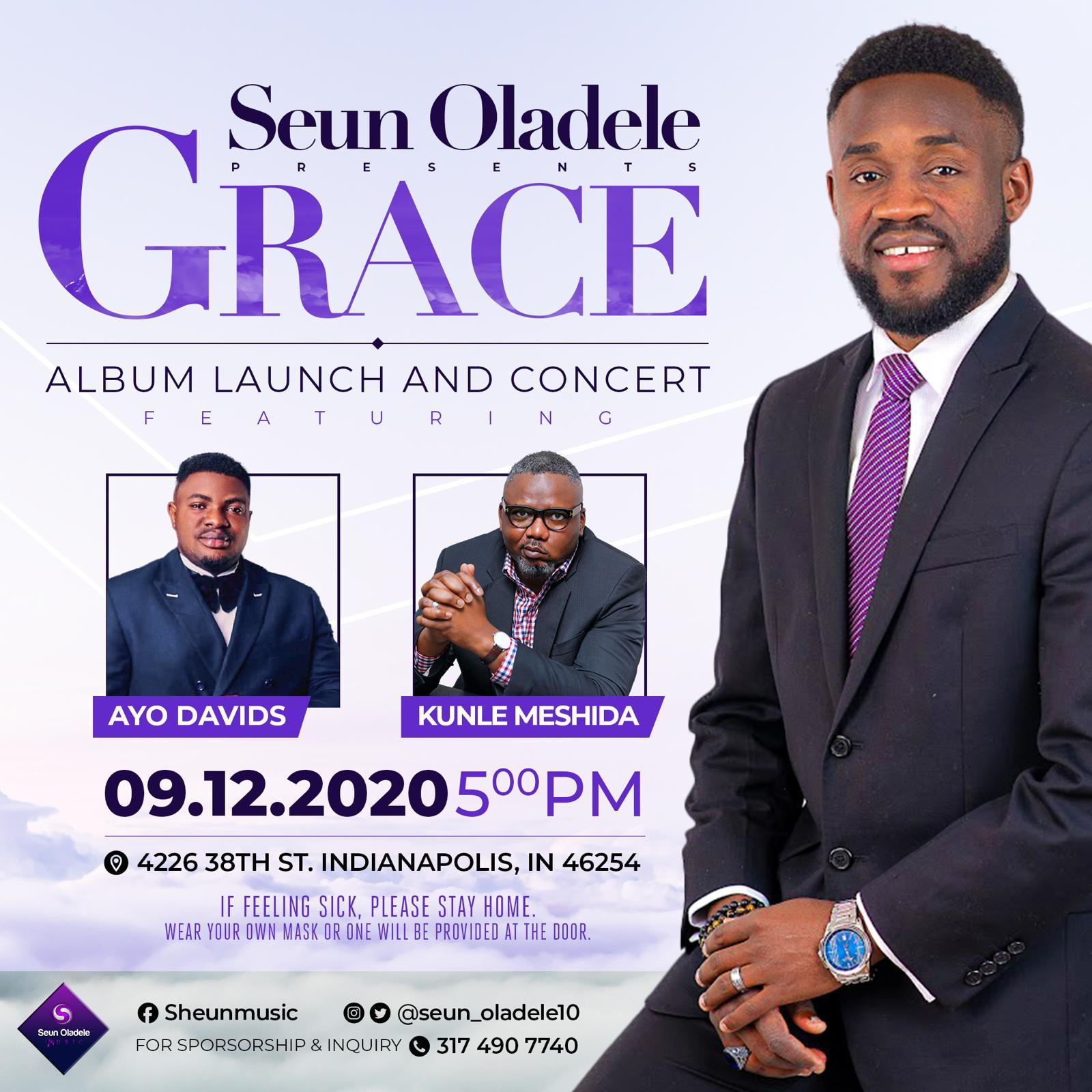 "Photo of Seun Oladele set to releases his first album launch concert ""GRACE"" 12th September, 2020"
