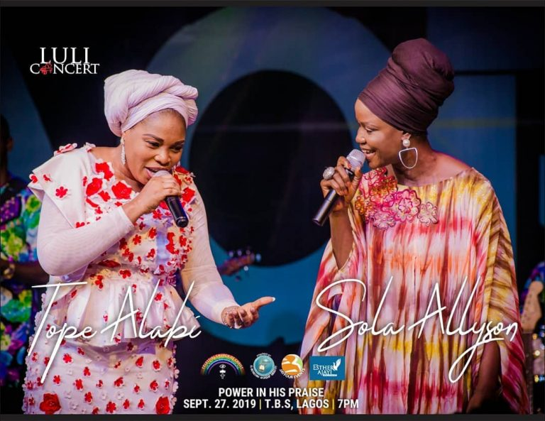 Photo of Tope Alabi ft Shola Allyson – LULI concert 4.0