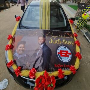 Judikay Got A Brand New Car As Wedding Gift From EeZee Conceptz Boss