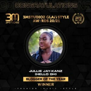 Jullie Jay-Kanz Wins Blogger of the Year at Glam Style Awards 2020/21